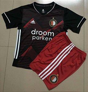 DUPLICADO - Conjunto Infantil (Camisa + Shorts) Feyenoord 2020-2021 (Home-Uniforme 1)