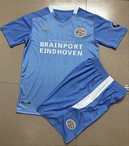 Conjunto Infantil (Camisa + Shorts) PSV Eindhoven 2020-2021 (Away-Uniforme 2)