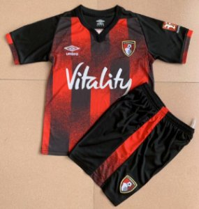 Conjunto Infantil (Camisa + Shorts) Bournemouth 2020-2021 (Home-Uniforme 1)