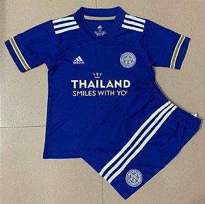 Conjunto Infantil (Camisa + Shorts) Leicester City 2020-2021 (Home-Uniforme 1)