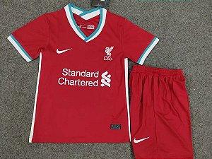 Conjunto Infantil (Camisa + Shorts) Liverpool 2020-2021 (Home-Uniforme 1)