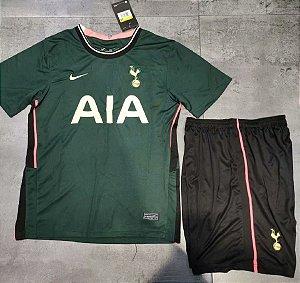 Conjunto Infantil (Camisa + Shorts) Tottenham Hotspur 2020-2021 (Away-Uniforme 2)