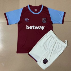 Conjunto Infantil (Camisa + Shorts) West Ham 2020-2021 (Home-Uniforme 1)