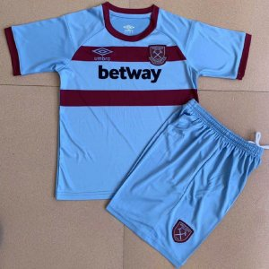 Conjunto Infantil (Camisa + Shorts) West Ham 2020-2021 (Away-Uniforme 2)