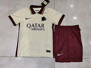 Conjunto Infantil (Camisa + Shorts) Roma 2020-2021 (Away-Uniforme 2)