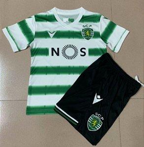 Conjunto Infantil (Camisa + Shorts) Sporting 2020-2021 (Home-Uniforme 1)