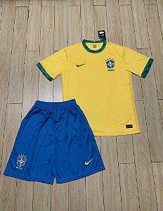 Conjunto Infantil (Camisa + Shorts) Brasil 2020-21 (Home-Uniforme 1)