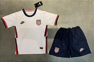 Conjunto Infantil (Camisa + Shorts) EUA 2020-2021 (Home-Uniforme 1)