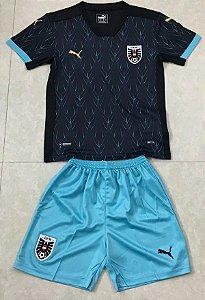 Conjunto Infantil (Camisa + Shorts) Áustria 2020-2021 (Away-Uniforme 2)