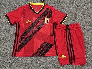 Conjunto Infantil (Camisa + Shorts) Bélgica 2020-2021 (Home-Uniforme 1)