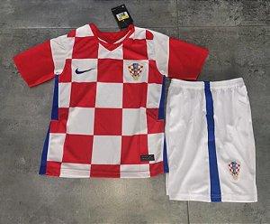 Conjunto Infantil (Camisa + Shorts) Croácia 2020-2021 (Home-Uniforme 1)