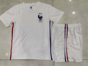Conjunto Infantil (Camisa + Shorts) França 2020-2021 (Away-Uniforme 2)