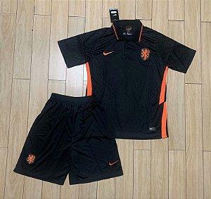 Conjunto Infantil (Camisa + Shorts) Holanda 2020-2021 (Away-Uniforme 2)
