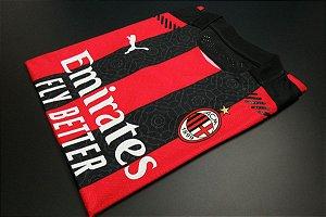 Camisa Milan 2020-21 (Home-Uniforme 1) - Modelo Jogador