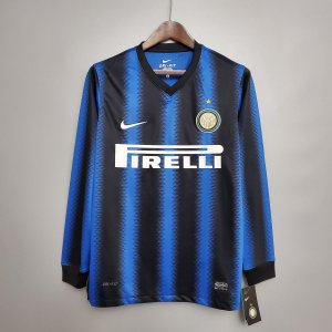 Camisa Internazionale 2010-2011 (Home-Uniforme 1) - Manga Longa