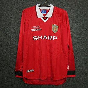 DUPLICADO - Camisa Manchester United 1998-1999 (Away-Uniforme 2) - Manga Longa
