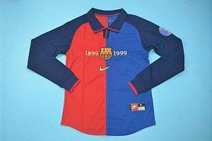 Camisa Barcelona 1999-2000 (Home-Uniforme 1) - manga longa