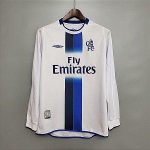 Camisa Chelsea 2003-2005 (Away-Uniforme 2) - Manga Longa