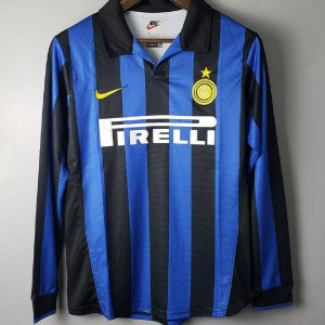 Camisa Internazionale 1998-1999 (Home-Uniforme 1) - Manga Longa