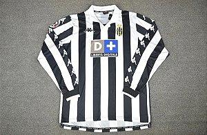 DUPLICADO - Camisa Juventus 1997-1998 (Home-Uniforme 1) - Manga Longa