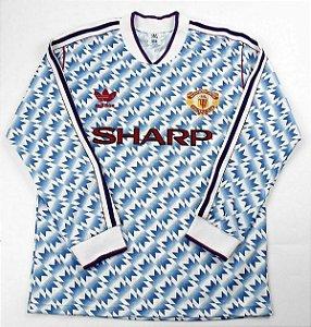 Camisa Manchester United 1990-1992 (Away-Uniforme 2) - Manga Longa
