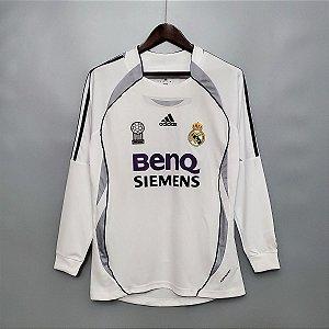 DUPLICADO - Camisa Real Madrid 2005-2006 (Home-Uniforme 1) - Manga Longa