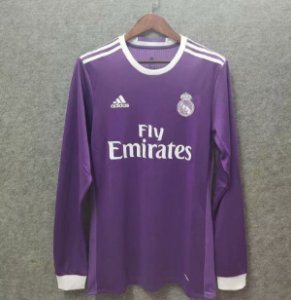 Camisa Real Madrid 2016-2017 (Away-Uniforme 2) - Manga Longa