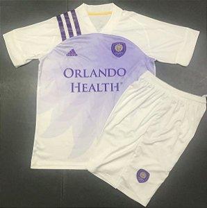 Conjunto Infantil (Camisa + Shorts) Orlando City 2020-21 (Away-Uniforme 2)