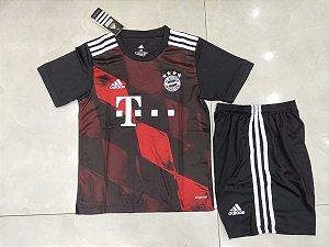 Conjunto Infantil (Camisa + Shorts) Bayern Munich 2020-2021 (Third-Uniforme 3)