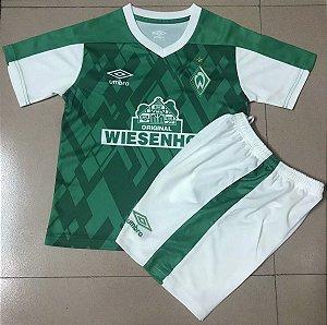 Conjunto Infantil (Camisa + Shorts) Werder Bremen 2020-2021 (Home-Uniforme 1)