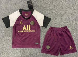 "Conjunto Infantil (Camisa + Shorts) Paris Saint Germain ""PSG"" 2020-2021 (Third-Uniforme 3)"