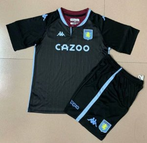 Conjunto Infantil (Camisa + Shorts) Aston Villa 2020-2021 (Away-Uniforme 2)