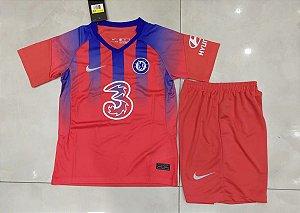 Conjunto Infantil (Camisa + Shorts) Chelsea 2020-2021 (Third-Uniforme 3)