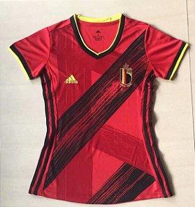 Camisa Bélgica 2020-21  (Home-Uniforme 1)  - Feminina