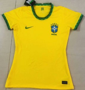 Camisa Brasil 2020-21  (Home-Uniforme 1)  - Feminina