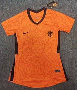 Camisa Holanda 2020-21  (Home-Uniforme 1)  - Feminina