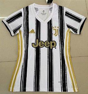 Camisa Juventus 2020-21  (Home-Uniforme 1)  - Feminina