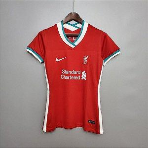 Camisa Liverpool 2020-21  (Home-Uniforme 1)  - Feminina
