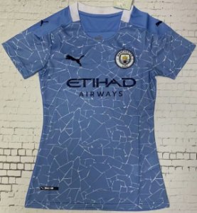 Camisa Manchester City 2020-21  (Home-Uniforme 1)  - Feminina