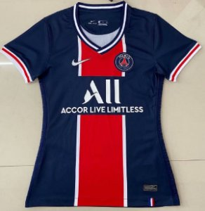 "Camisa Paris Saint Germain ""PSG"" 2020-21  (Home-Uniforme 1)  - Feminina"