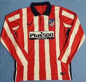 Camisa Atlético de Madrid 2020-21 (Home-Uniforme 1) - manga longa