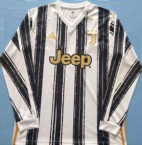 Camisa Juventus 2020-21 (Home-Uniforme 1) - manga longa