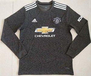 Camisa Manchester United 2020-21 (Away-Uniforme 2) - manga longa