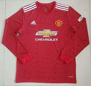 Camisa Manchester United 2020-21 (Home-Uniforme 1) - manga longa