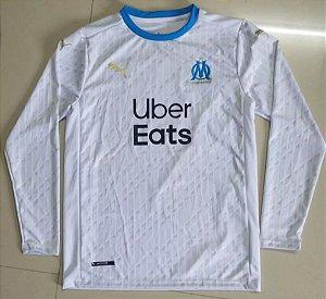 Camisa Olympique Marseille 2020-21 (Home-Uniforme 1) - manga longa