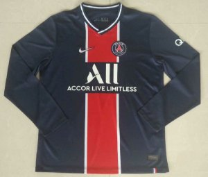 "Camisa Paris Saint Germain ""PSG"" 2020-21 (Home-Uniforme 1) - manga longa"
