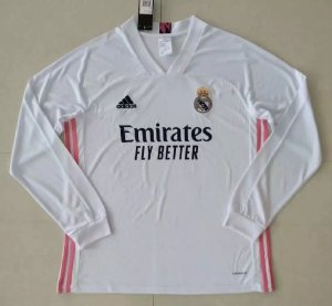 Camisa Real Madrid 2020-21 (Home-Uniforme 1) - manga longa