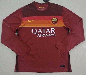 Camisa Roma 2020-21 (Home-Uniforme 1) - manga longa