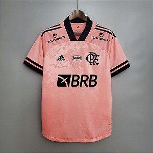 Camisa Flamengo 2020 (Outubro Rosa) - treino