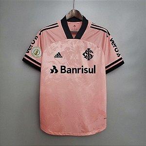 Camisa Inter-RS 2020 (Outubro Rosa) - masculina - com patrocínios